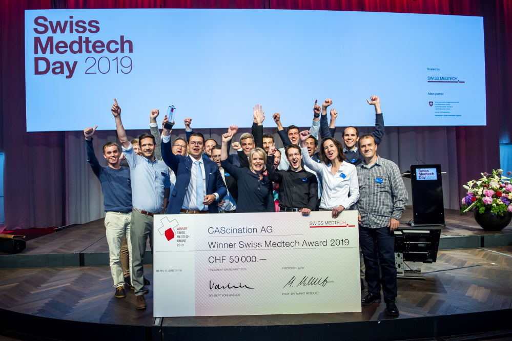 CAScination Swiss Medtech Award Winner Team